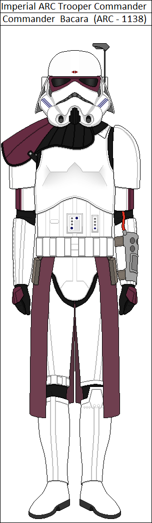 Imperial ARC Trooper Commander Bacara. Template belongs to and ...