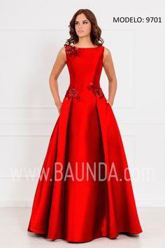 a12f9bf77 Vestido largo madre de la novia 2017 XM 9701 rojo