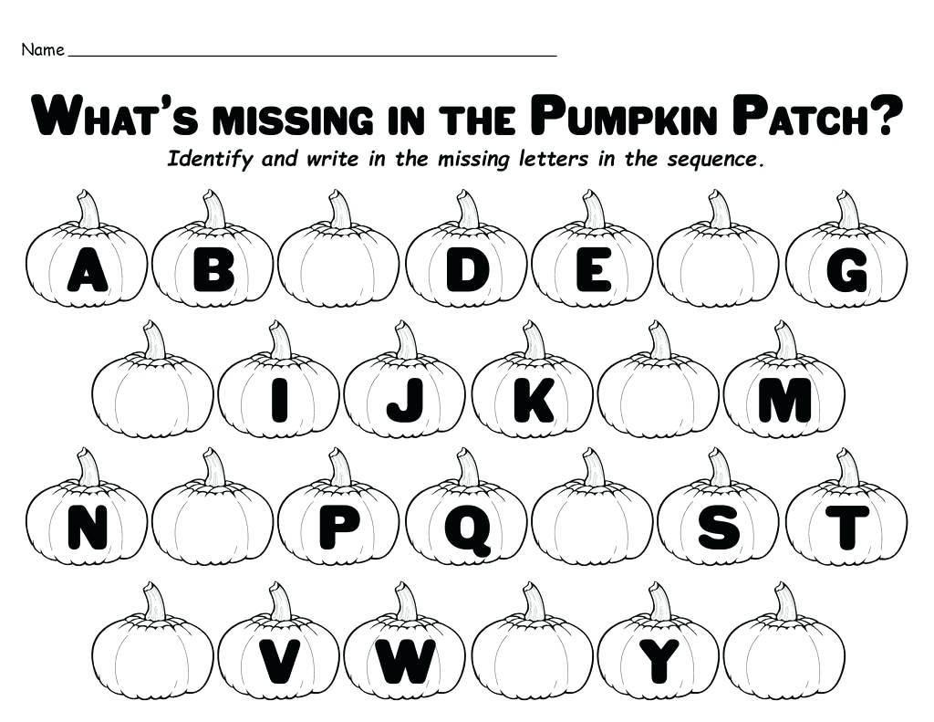 Missing Letter Worksheets For Preschoolers In