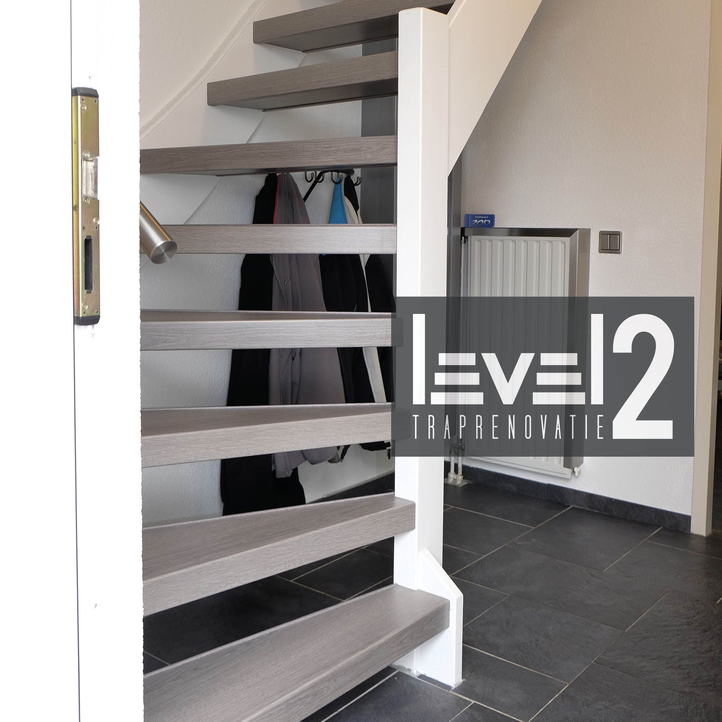 Level2 traprenovatie open trap trap bekleden trap renoveren traprenovatie traprenovatie - Huis trap licht ...