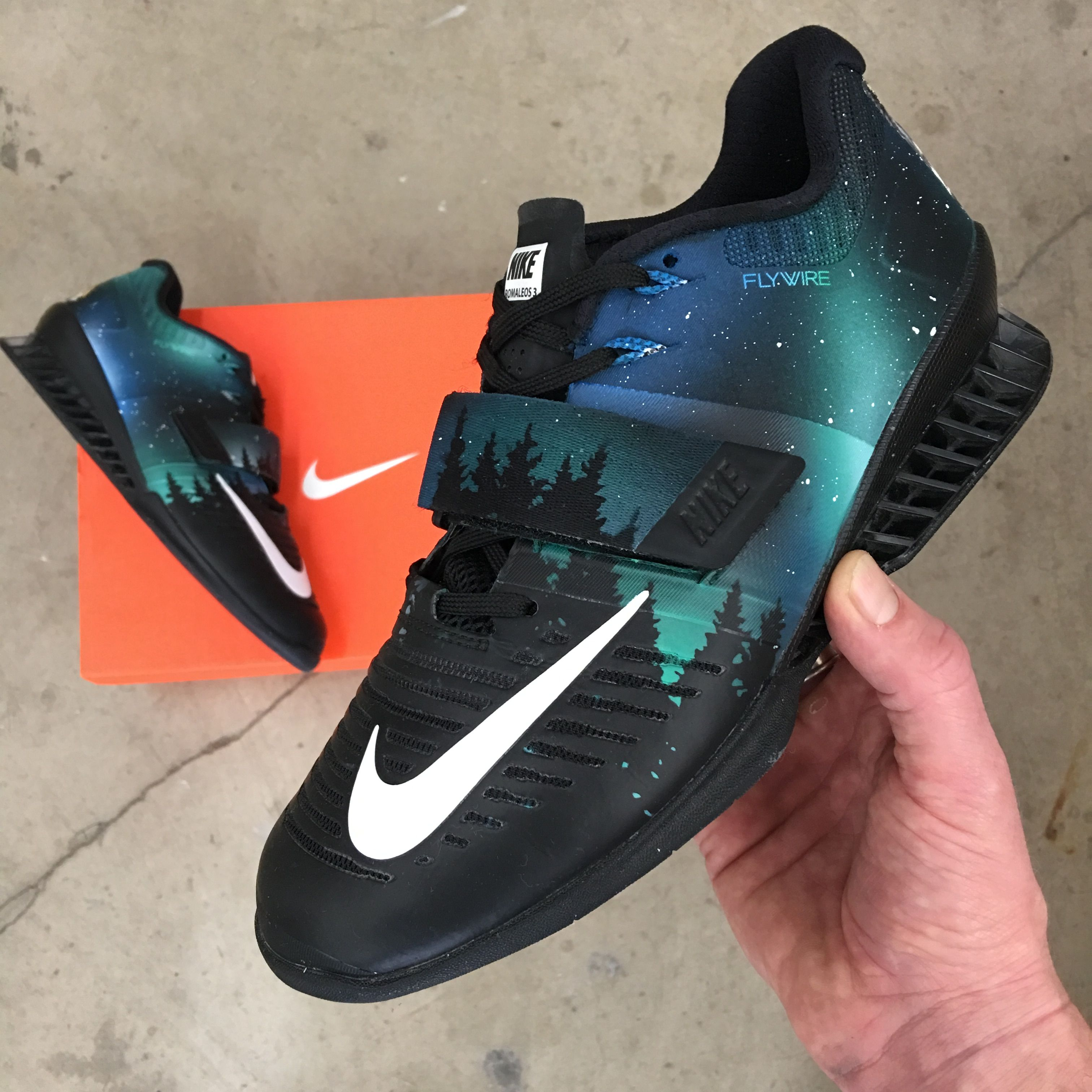 cheaper fa561 21148 Custom Hand Painted Nike Romaleos 3 Weightlifting Shoes