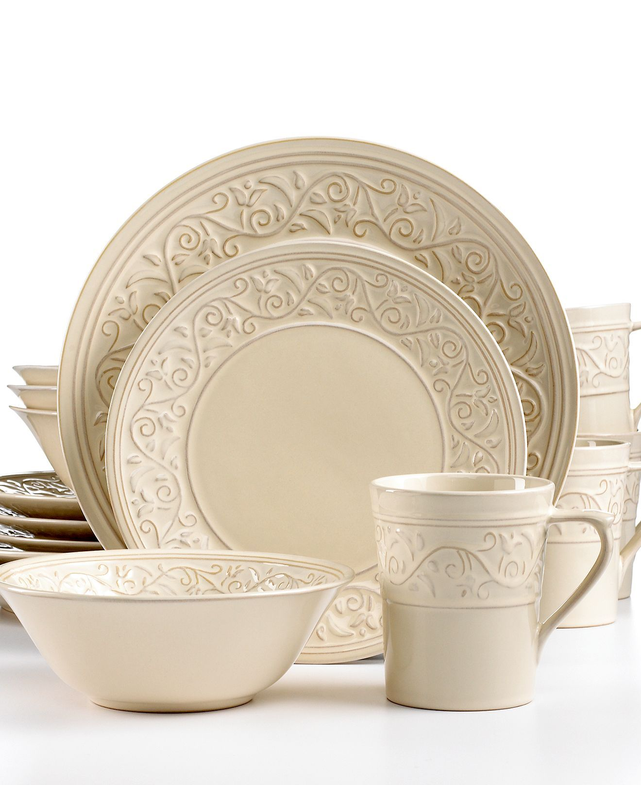 Signature Living Dinnerware Signal Hill Cream 16 Piece Set - Casual Dinnerware - Dining u0026  sc 1 st  Pinterest & Signature Living Dinnerware Signal Hill Cream 16 Piece Set - Casual ...