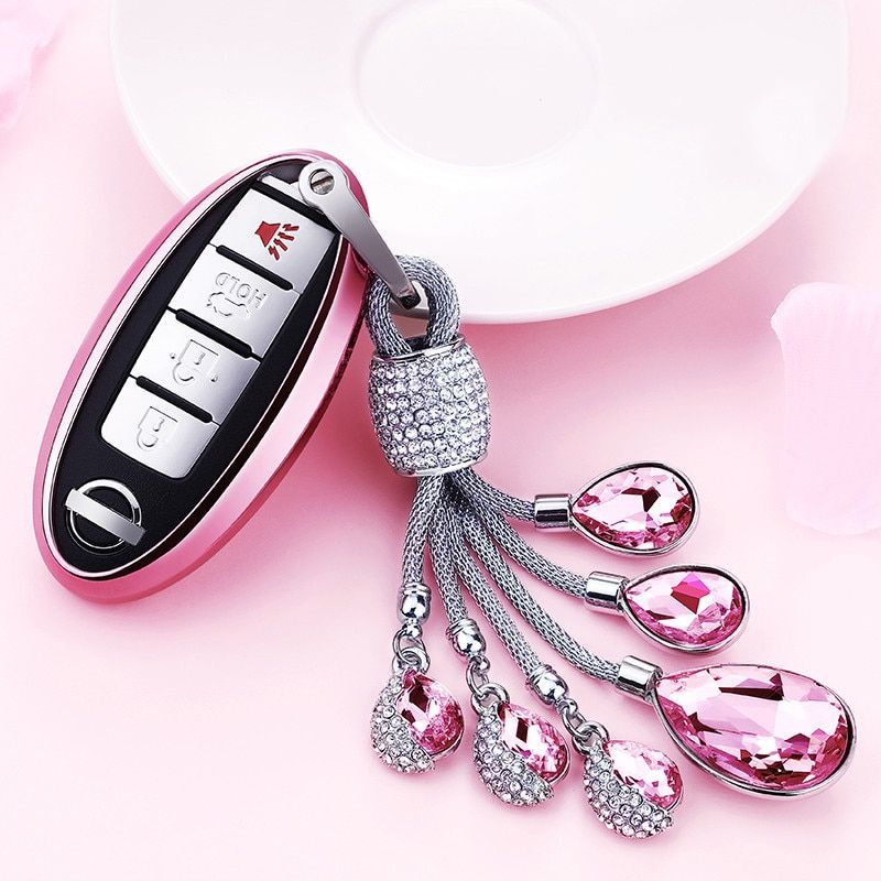 TPU crystal Car Key Case Cover for For Nissan Qashqai