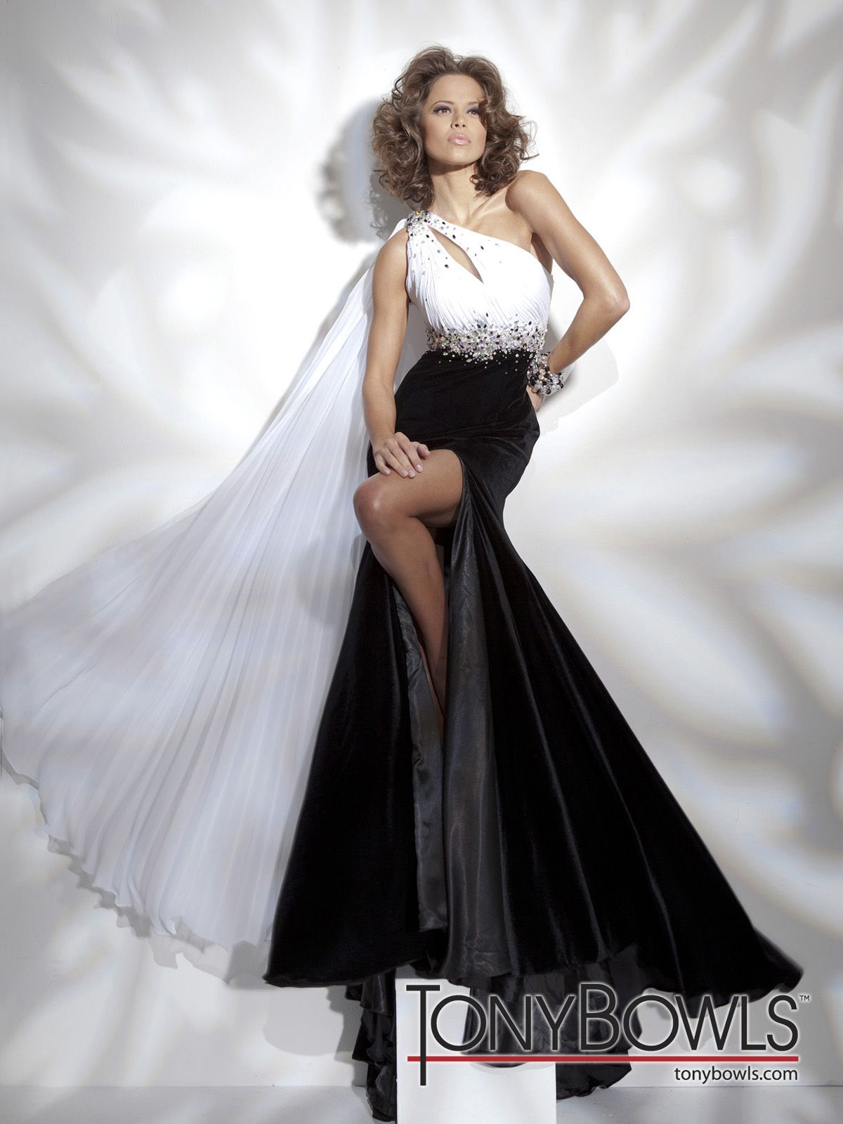 One side strap wedding dress  One shoulder chiffon and velvet mermaid gown with asymmetrical