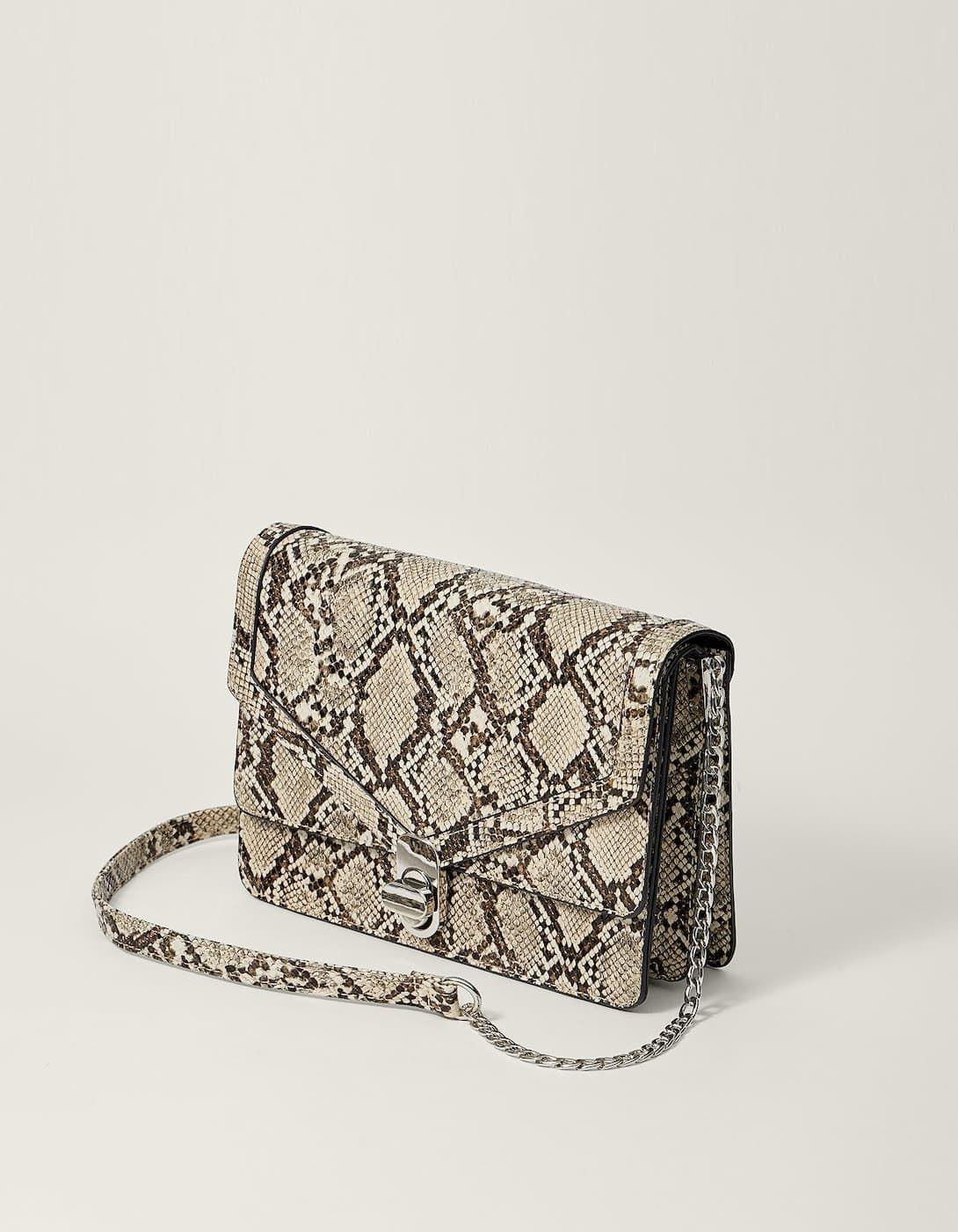 706318d9b05 Faux snakeskin crossbody bag - Just in   Stradivarius United Kingdom ...