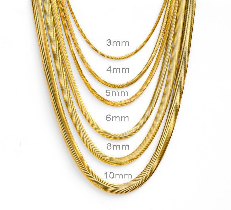 "16/""-60/""  STAINLESS STEEL GOLD,SILVER,BLACK 5MM SMOOTH BOX ROPE CHAIN NECKLACE"