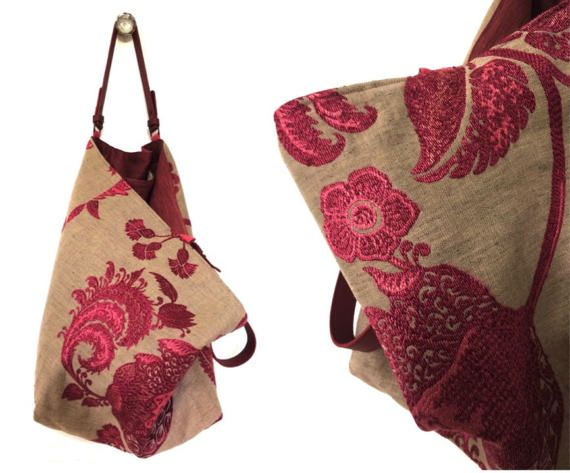 ce sac r versible est une pi ce unique r alis e dans une. Black Bedroom Furniture Sets. Home Design Ideas