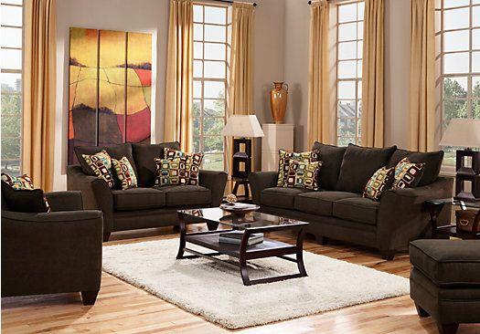 Santa Monica Brown 3 Pc Living Room | For the Home | Pinterest ...