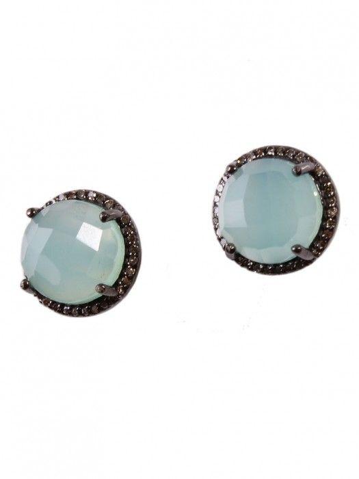 Margo Morrison Faceted Green Onyx & Diamond Earrings 1y3ZsNu