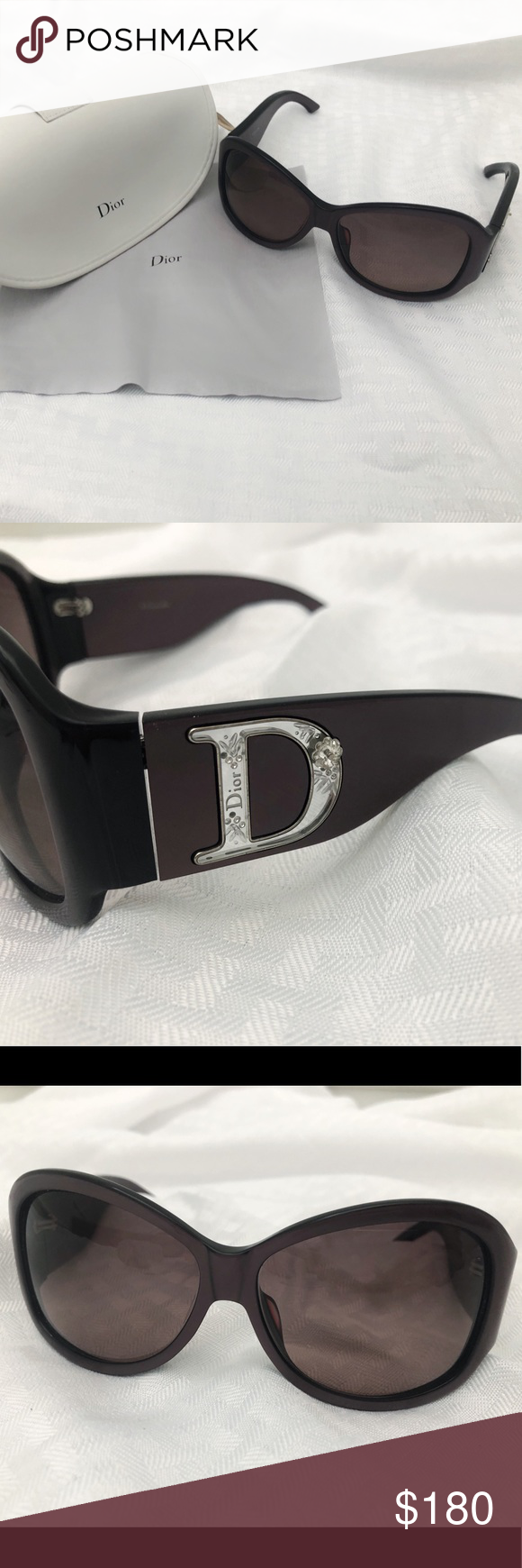 dcb8e2bb53e9 Authentic Christian Dior Rhinestone Sunglasses Authentic Christian Dior  sunglasses in like new condition. Beautiful flower