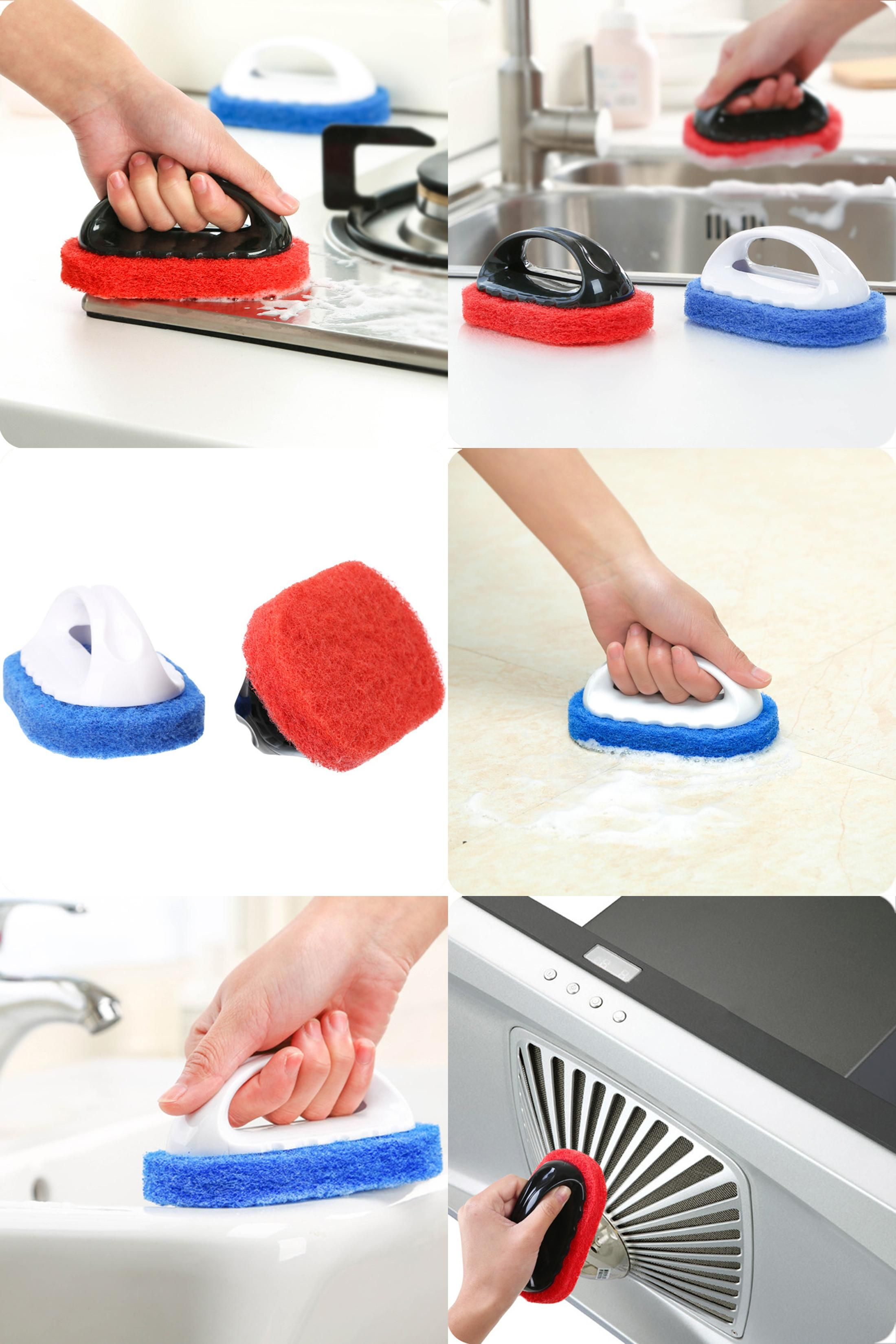 9pcs Cleaning Brush Set with Dust Pan Kitchen Bathroom Cleaning ...