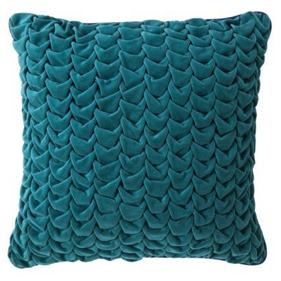 Xhilaration® Velvet Euro Pillow - Turquoise