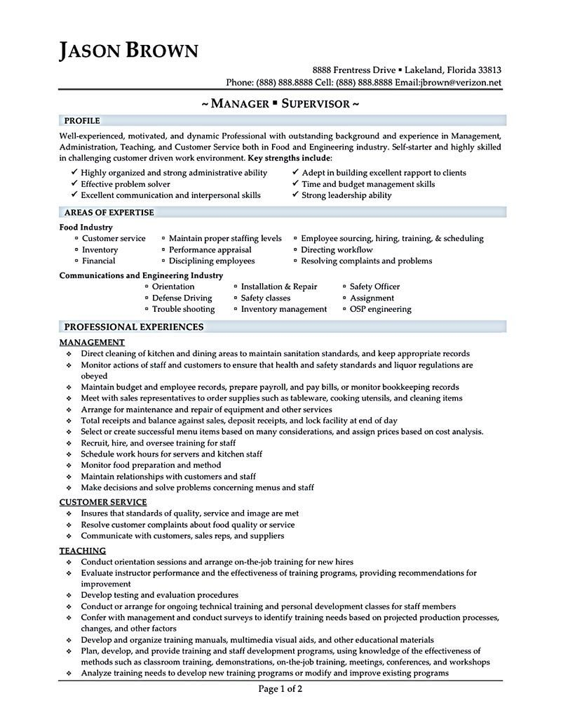 restaurant manager resume will ease anyone who is seeking for job related to managing a restaurant a manager can be best described as a person that h - Restaurant Manager Resumes