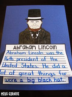 February Writing Prompts Abraham Lincoln For Kids Writing