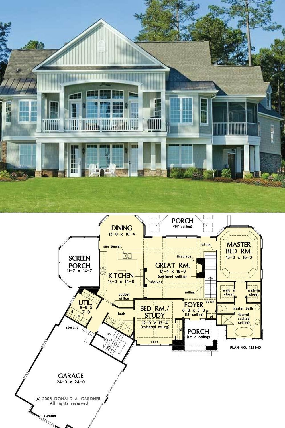 4 Bedroom 2 Story Craftsman Style Sloping Lot Hillside House Plan The Silvergate Home In 2020 Hillside House House Plans Outdoor Sconces