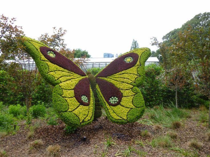 butterfly topiary Atlanta botanical garden, Topiary