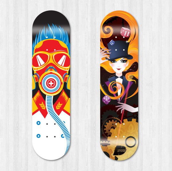 Skateboard Deck Design by Dora Augustin in Showcase of Cool and ...