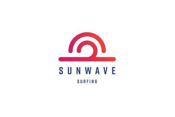 Sun Wave Logo Template   Logo templates, Branding ideas and Logos