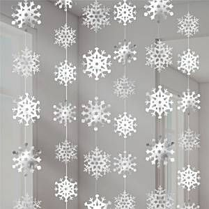Snowflake Christmas Hanging Strings Decoration   2.1m