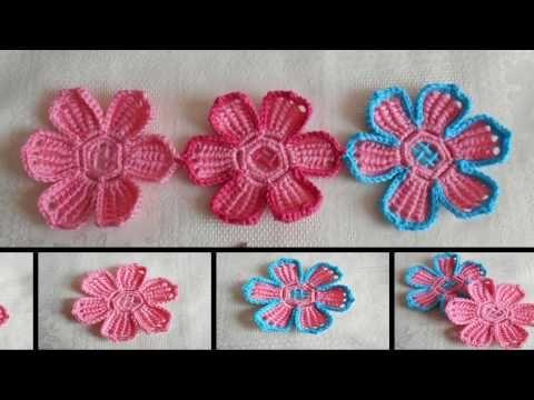 Flor en crochet facil y rapido paso a paso - YouTube | Modele De ...