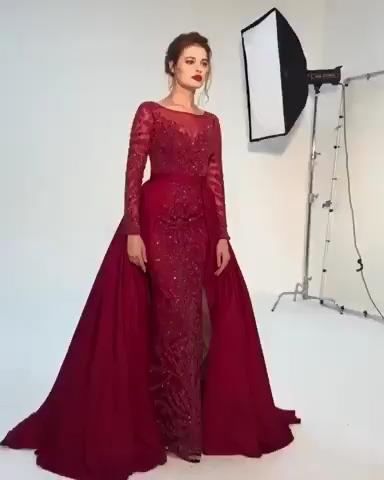 Mermaid Beaded Lace Mermaid Prom Dresses Wedding Party Dresses LPD639 -   12 dress Hijab evening ideas