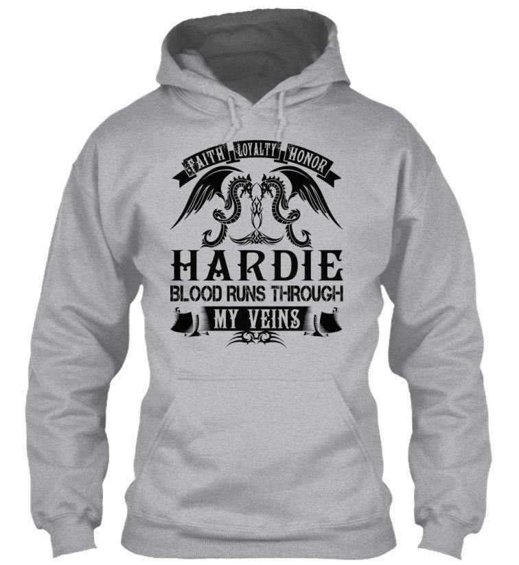 HARDIE - My Veins Name Shirts #Hardie