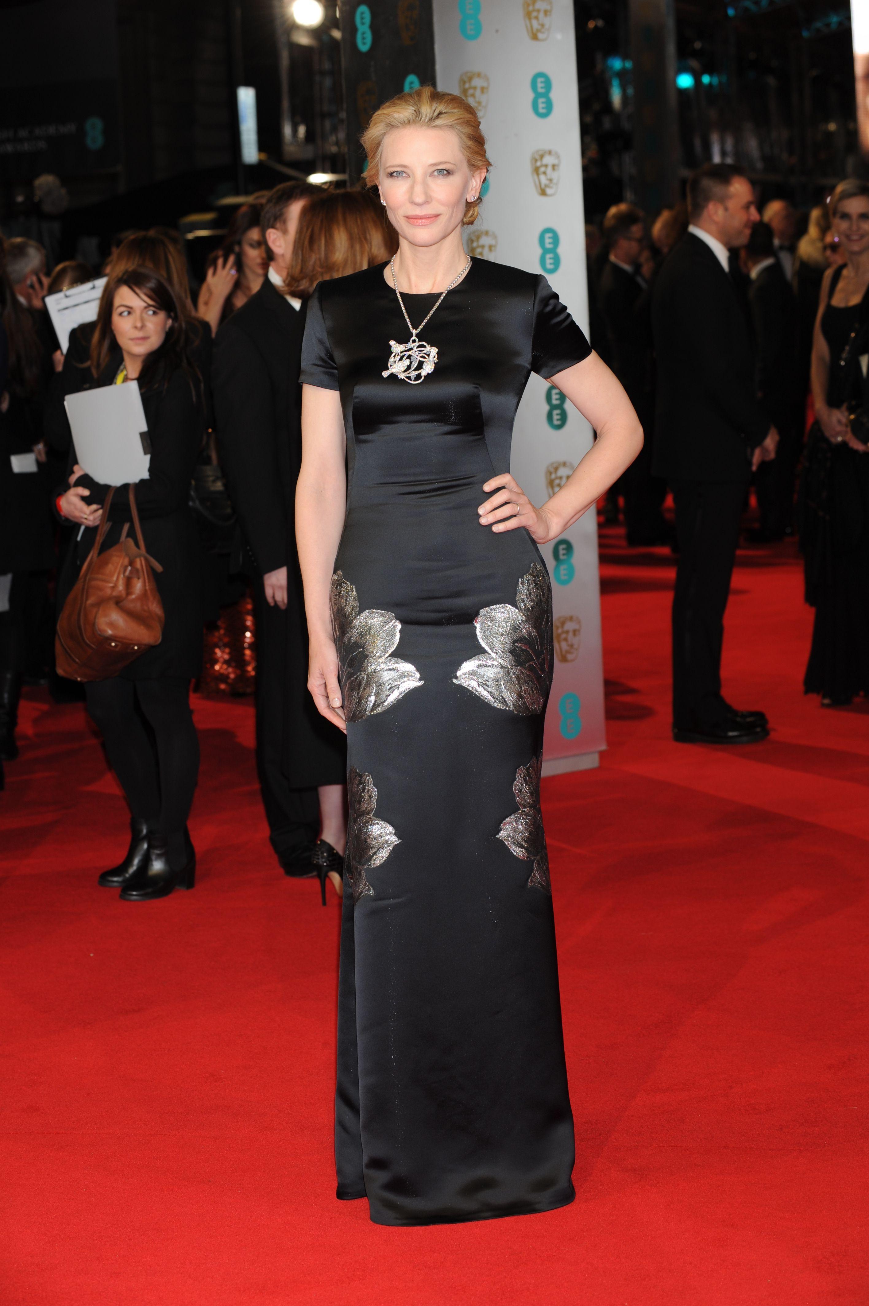 Cate Blanchett wearing Alexander McQueen to the BAFTAs