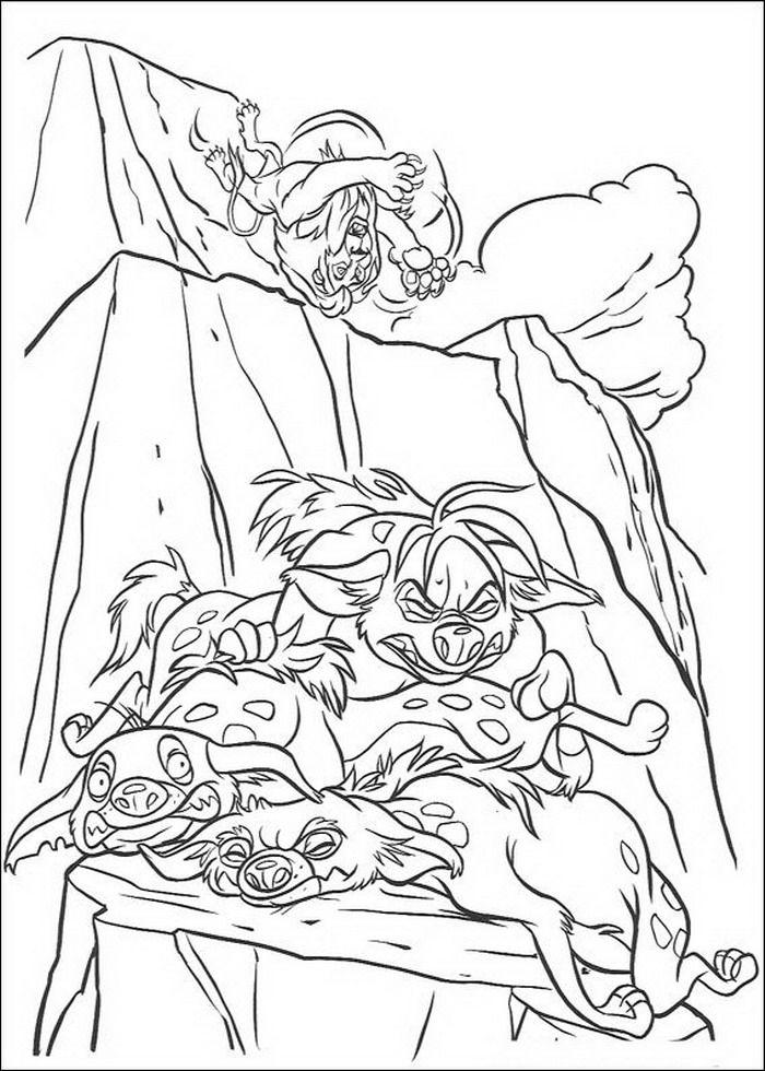 Kleurplaten Van De Leeuwenkoning.Kleurplaat Lion King Of De Leeuwenkoning Scar Verslagen Kleurplaten