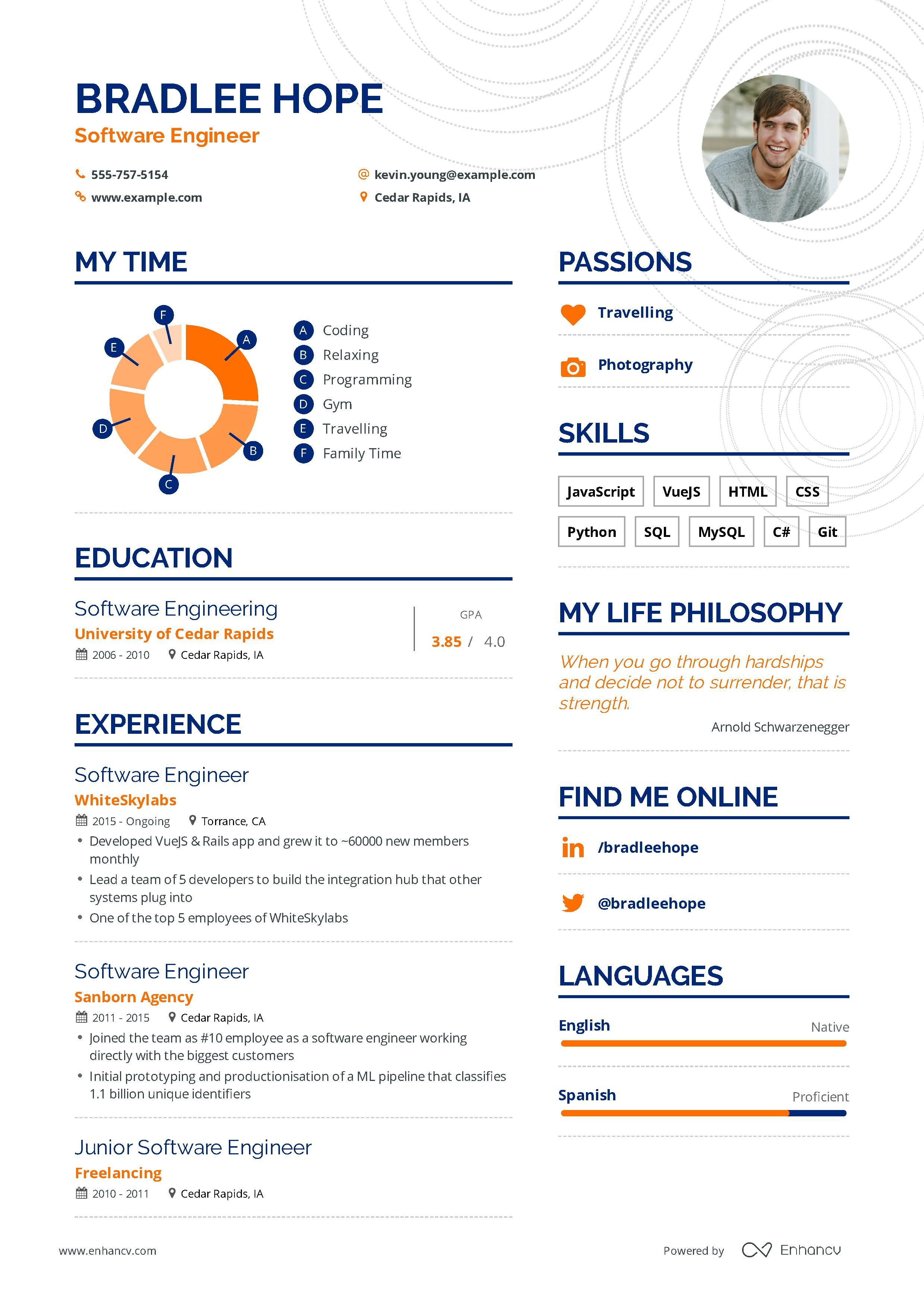 Software Engineer Resume Example And Guide For 2019 Engineering Resume Resume Examples Engineering Resume Templates