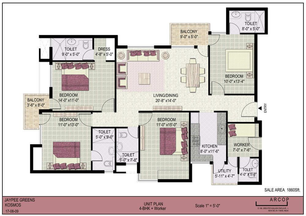 4bhk Floor Plan Google Search Bedroom House Plans Floor Plans House Plans