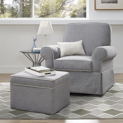 Found it at Wayfair - Taline Swivel Glider and Ottoman