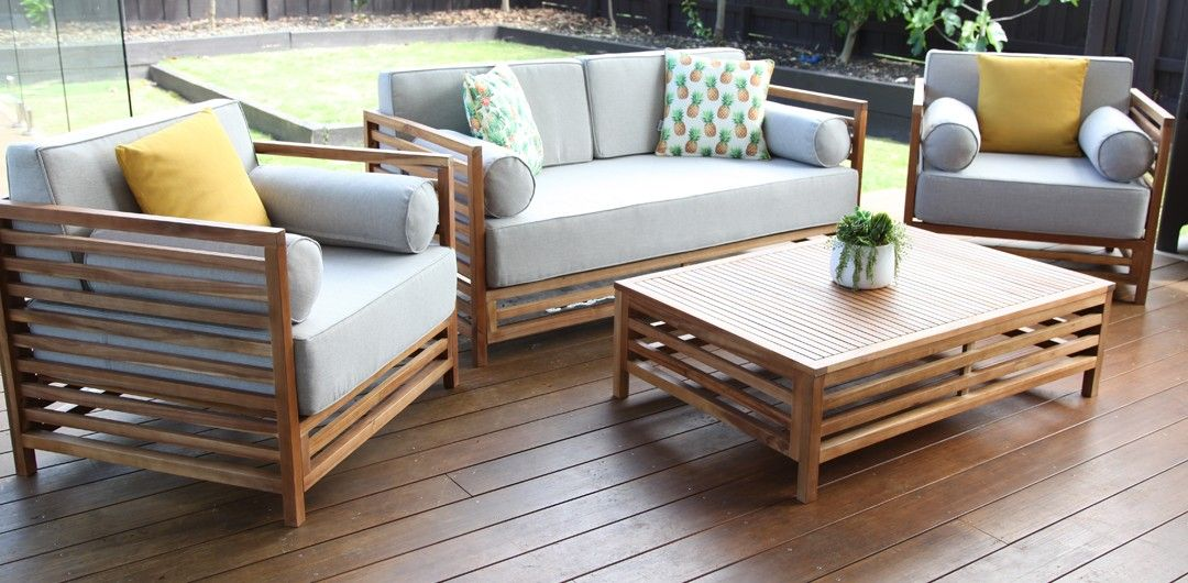 Key Largo 4 Piece Lounge Setting Outdoor Furniture