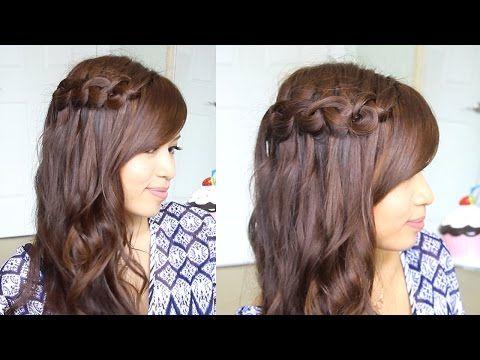 Boho Knotted Loop Waterfall Braid Hairstyle Hair Tutorial Waterfall Braid Hairstyle Hair Tutorial Braided Hairstyles