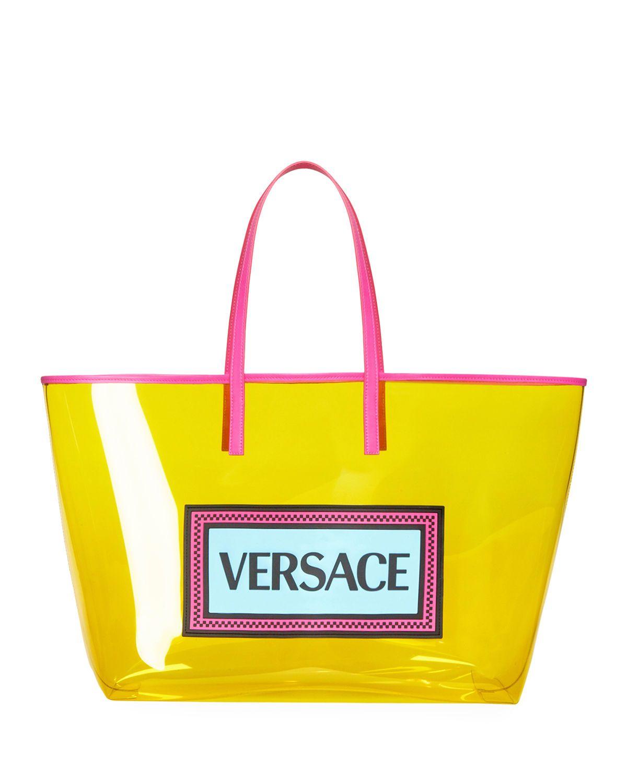 90s Logo Clear Vinyl Tote Bag Versace Vintage Logo 90s Logos