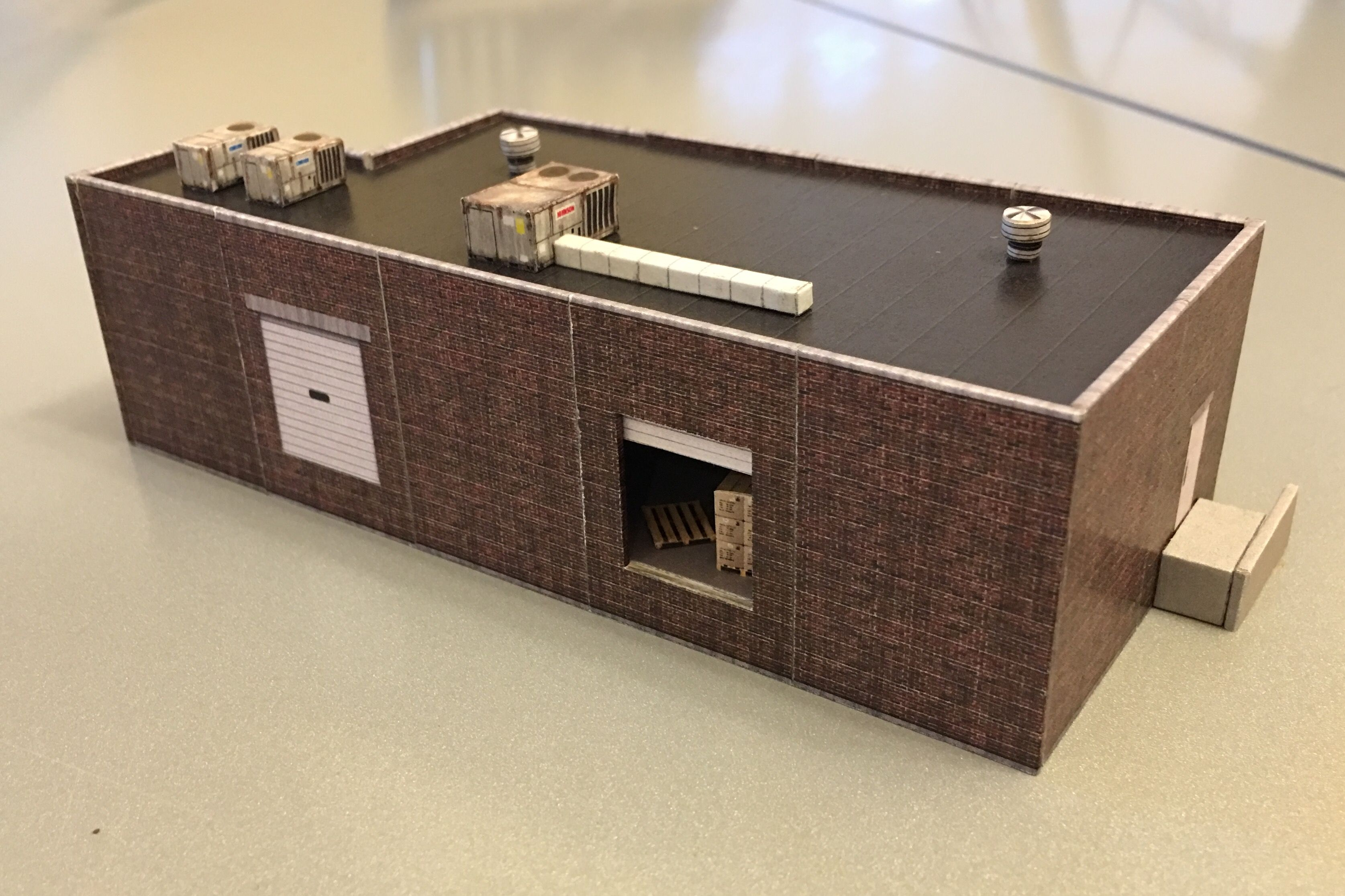 Model railroad paper building downloadable kit this one