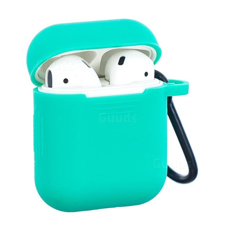 Non Slip Soft Silicone Case For Apple Airpods Green Airpods 1