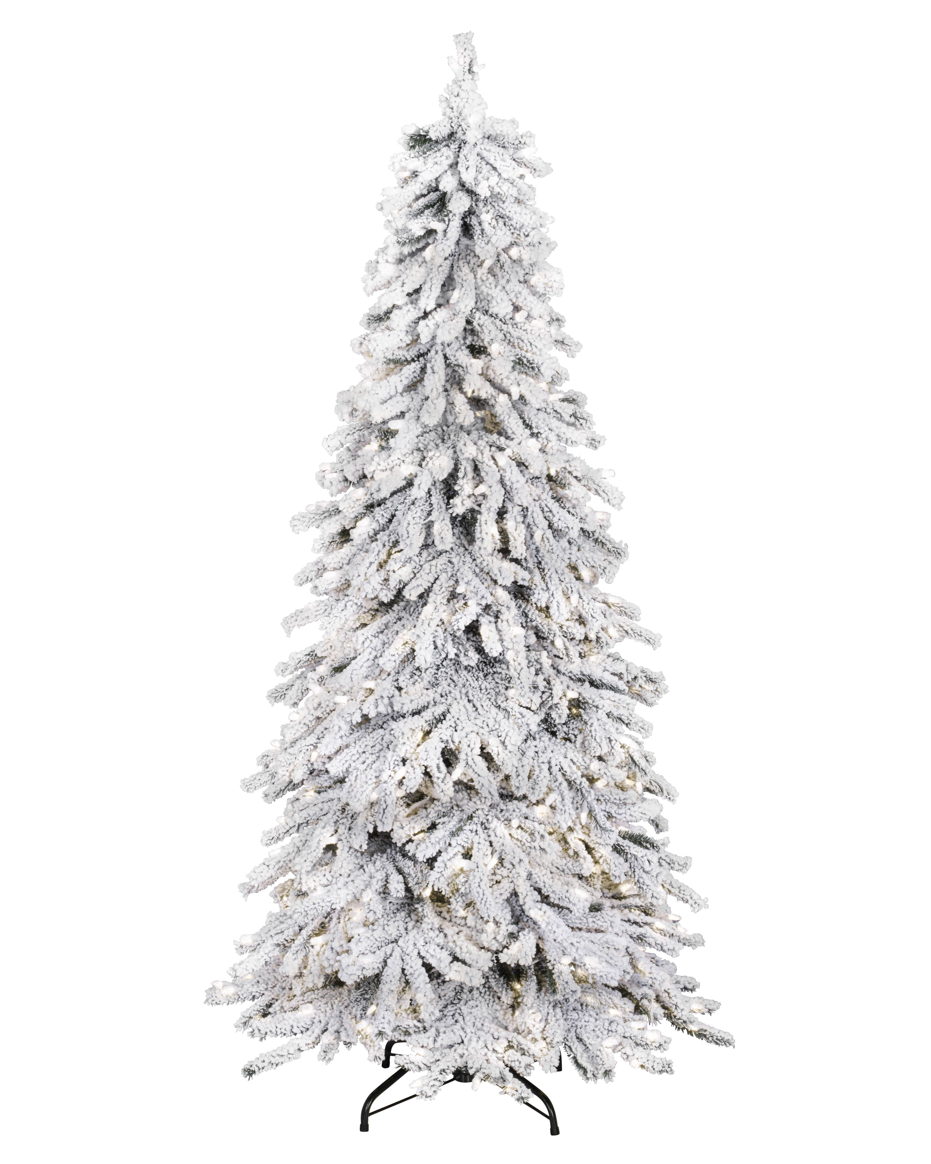 Snowy Spruce Flocked Artificial Christmas Tree Spruce