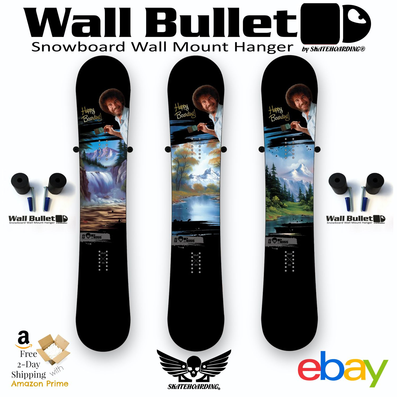 Vertically Wall Mount Snowboards With Or Without Bindings Wall Mount Snowboards Fast Easy In Minutes Deluxe Solid Rubber Snowboard Hanger Rack Wall Mount
