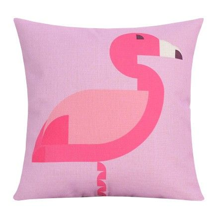 Pink Flamingo decorative pillows for living room geometric animal ...