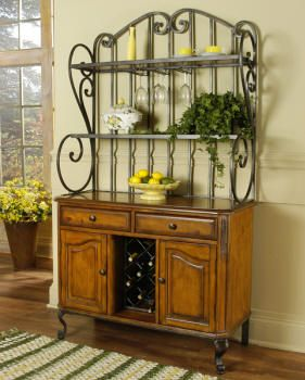 Bakers Rack With Storage Cabinets Le A Wrought Iron Baker S Makes The Perfect Wine