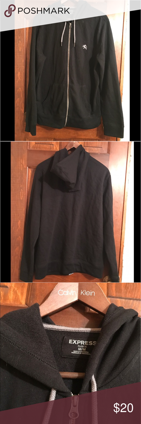 Express zip up - Mens express zip up hoodie. Almost brand new. No visible flaws and amazingly soft and comfortable. No piling, definitely a steal! Size Medium Express Sweaters Zip Up