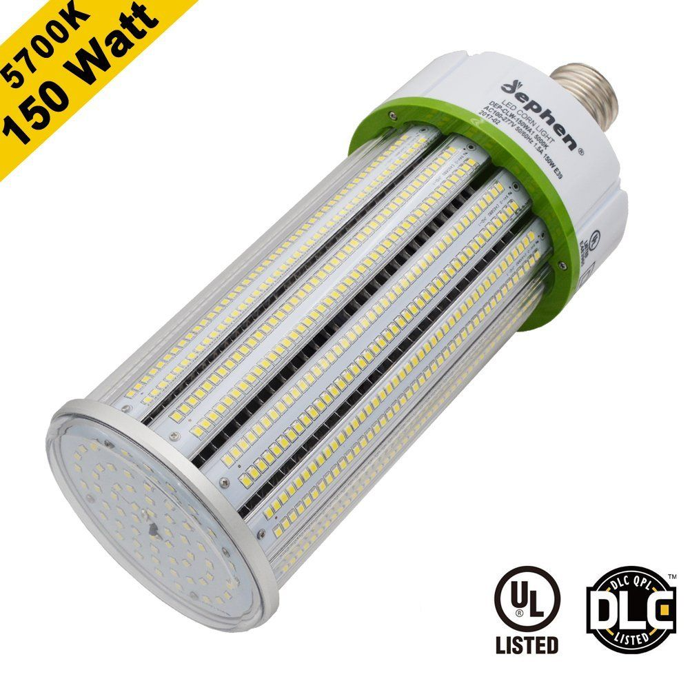 Dephen 150w Led Corn Light Bulb Large Mogul E39 Base Ac100 277v 5700k 20250 Lumens 1000w Equivalent Replacement For Metal Halide Bulb Bulb Led Bulb Led