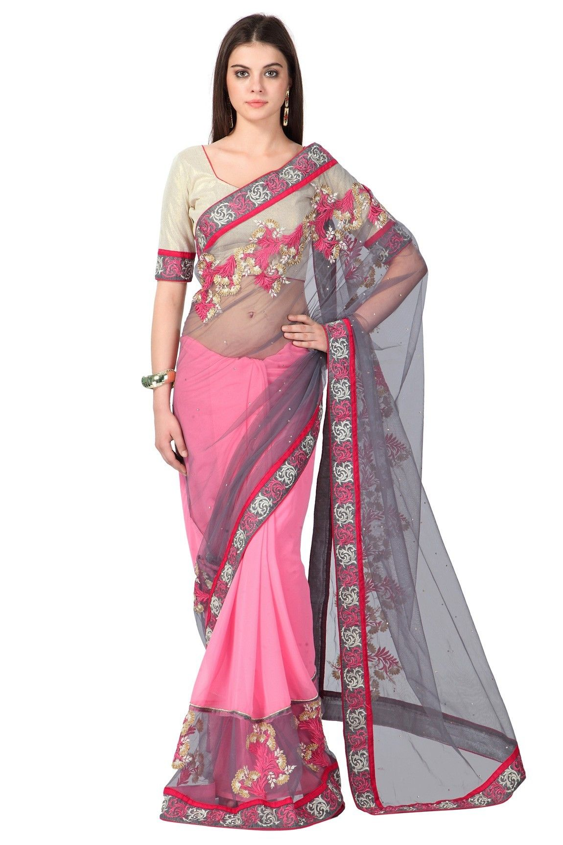 When you got to Impress, draping a #Gorgeous #Saree is the only way!Our Price: INR 2,768Shop Now: http://www.admyrin.com/catalogs/suhani-vol-2/grey-and-pink-net-georgette-saree-with-gold-brocade-blouse-piece.htmlView Entire Collection: http://www.admyrin.com/catalogs/suhani-vol-2.html#Sari #Occasion #Festive #Party #Net #Pink #Grey #COD