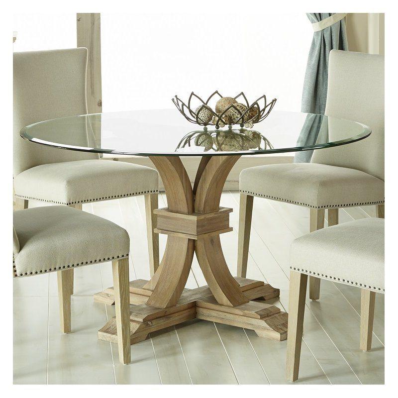 Lark Manor Parfondeval 54 Round Glass Dining Table Reviews Wayfair Glass Dining Table Round Glass Dining Room Table Glass Round Dining Table