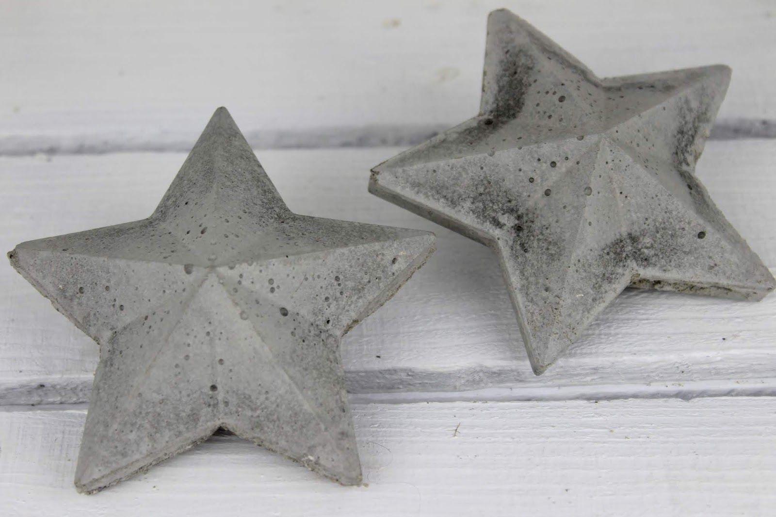 Beton Weihnachtsdeko.Diy 3d Beton Sterne Selber Machen Eine Wundervolle Weihnachtsdeko