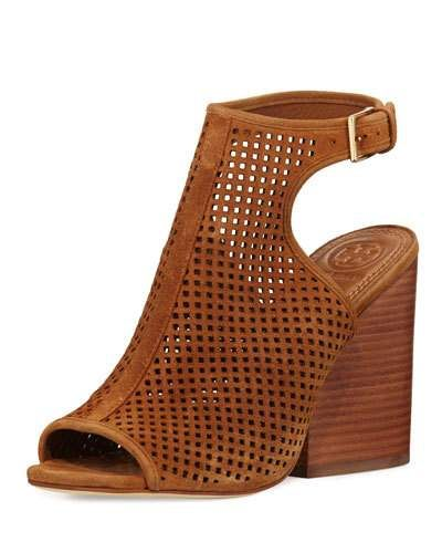 afec06eda03a TORY BURCH JESSE PERFORATED OPEN-TOE BOOTIE
