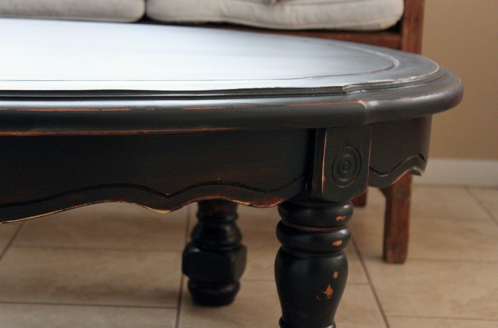 Distressed Black Wood Furniture Black Distressed Coffee Table