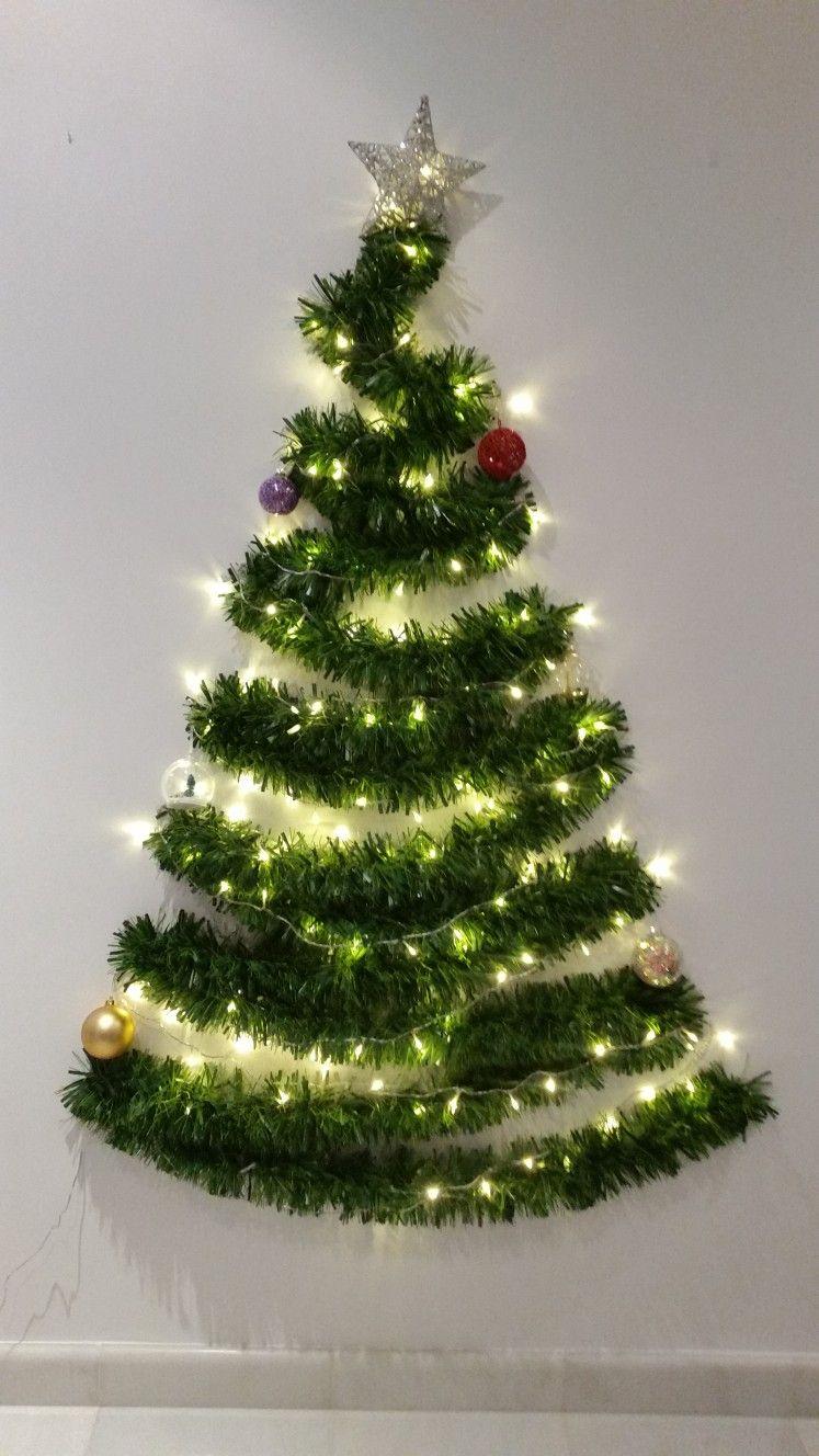 árbol De Navidad En Pared Tree Christmas árbol De Navidad Colorido Decoración De Navidad Diy Arbol De Navidad Pared