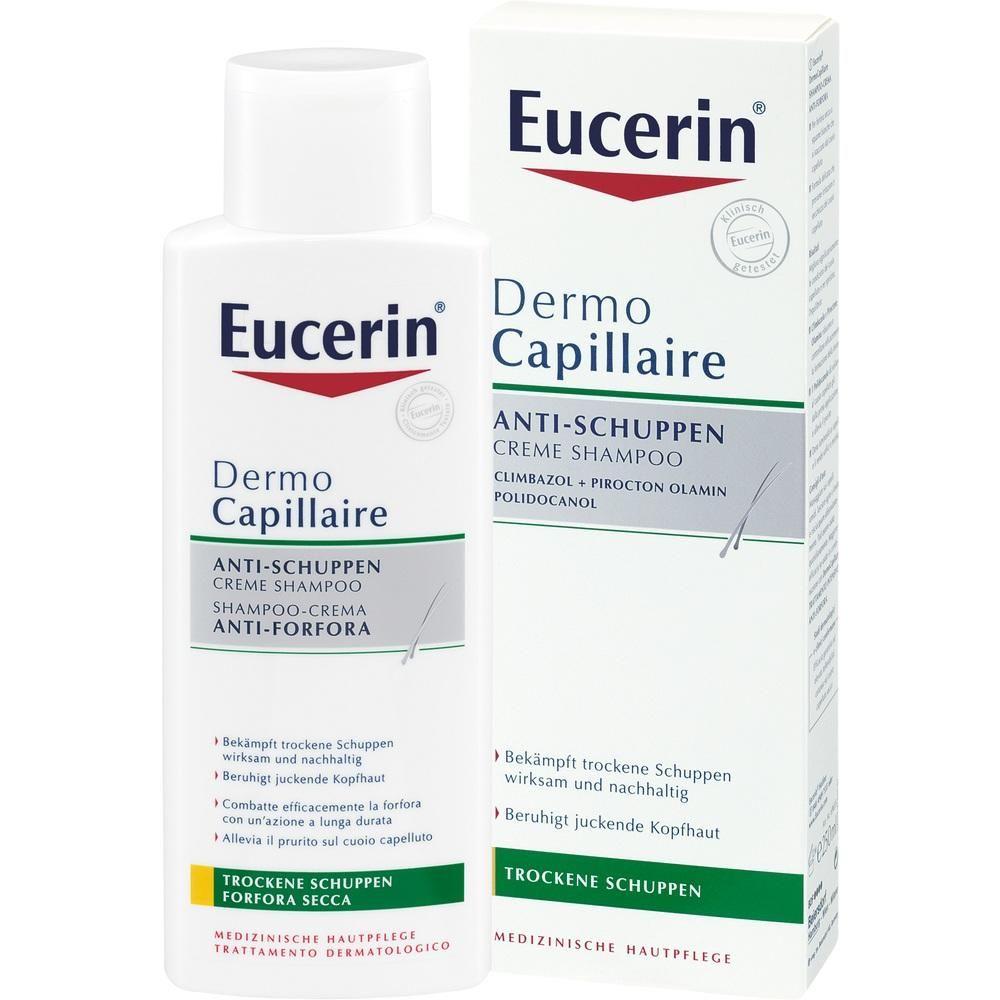 EUCERIN DermoCapillaire Anti-Schuppen Creme Shamp:   Packungsinhalt: 250 ml Shampoo PZN: 09508102 Hersteller: BEIERSDORF AG EUCERIN…