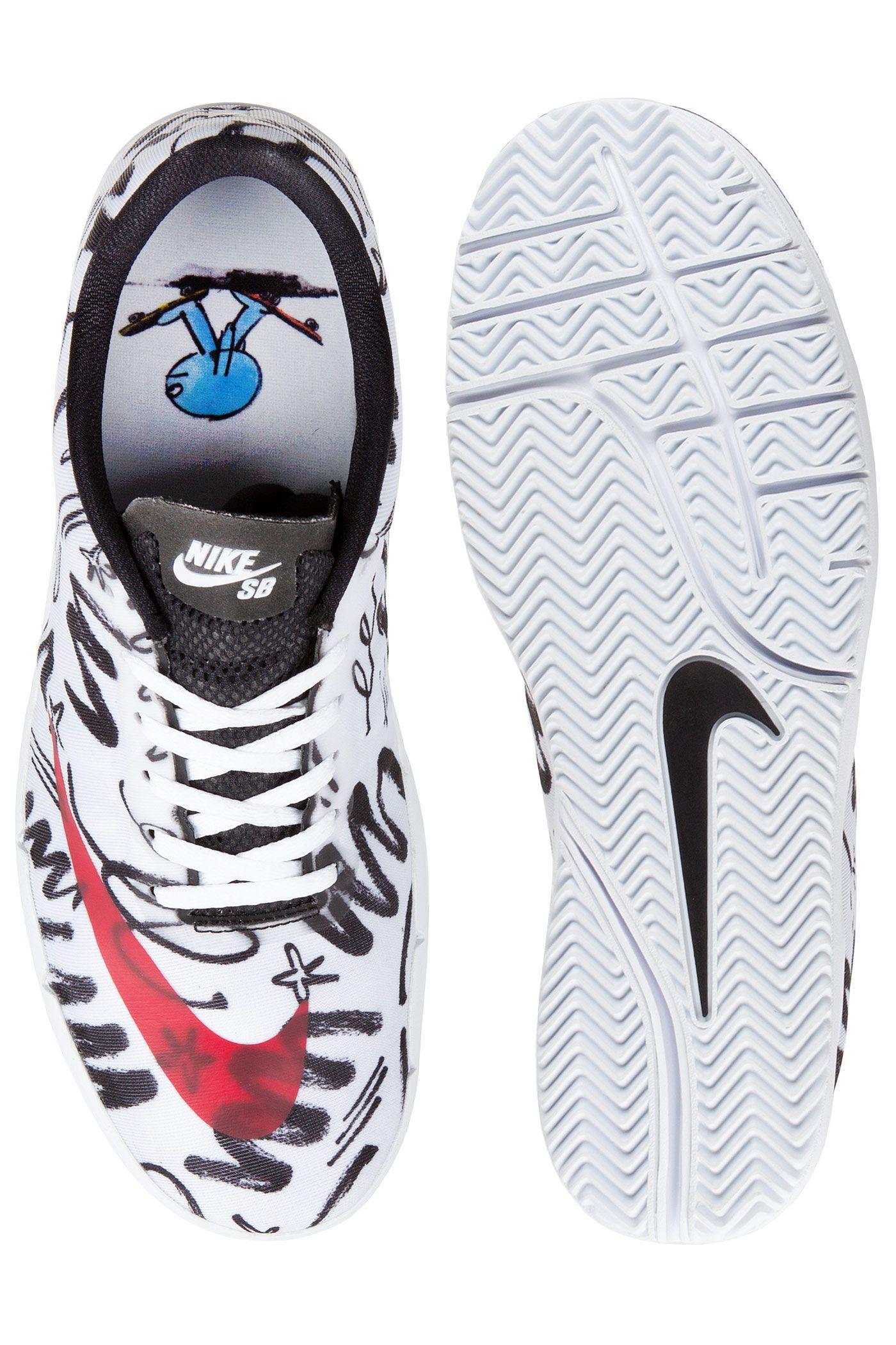 Nike SB Free R R (white QS James Jarvis Chaussure (white R gym red d398a0